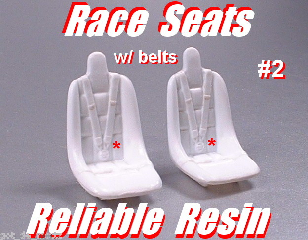 RACING SEATS #2 W/BELTS