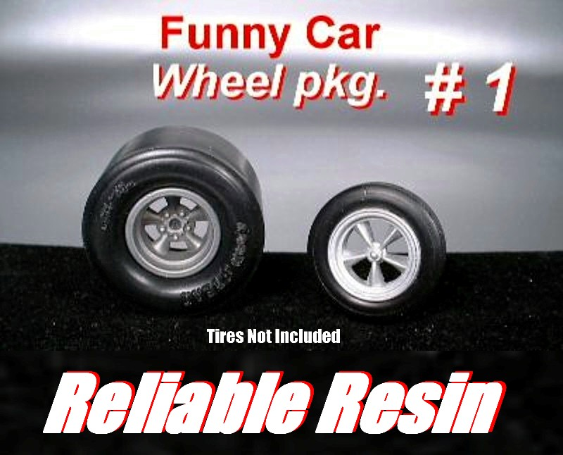 """Funny Car Wheel Package"" #1"