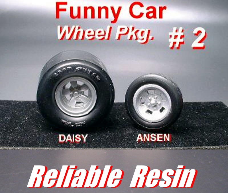 """Funny Car Wheel Package"" #2"