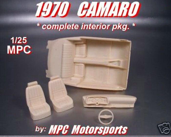 1970 Camaro Complete Interior pkg 1/25 MPC - Click Image to Close
