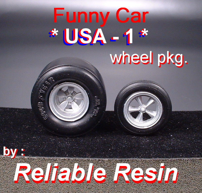 USA 1 Funny Car Wheel Pkg