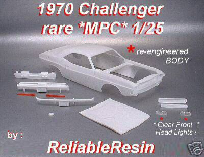 1970 Challenger MPC PLUM CRAZY Resin Trans Kit