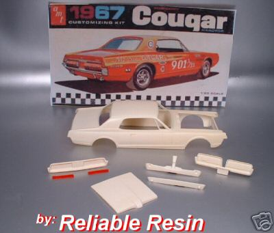 1967 / 68 COUGAR Resin Body :Trans Kit