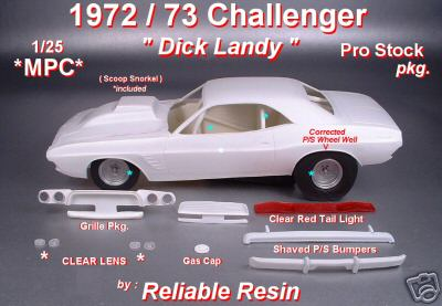"72/73 Challenger ""Dick Landy"" Pro Stock Pkg!"